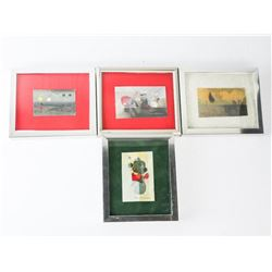 Group of (4) Framed Original Watercolours, 6x5