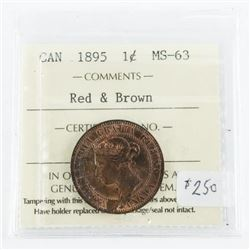 Red and Brown 1c Canada - 1895 ICCS - MS63