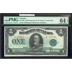 1923 $1 MCCAVOUR-SAUNDERS, GREEN SEAL, GROUP 1 SER