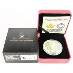 Canada 2014 $20.00 .9999 Fine Silver Coin 'Maple C