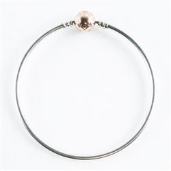 Estate 925 Silver Bangle Bracelet with Ball