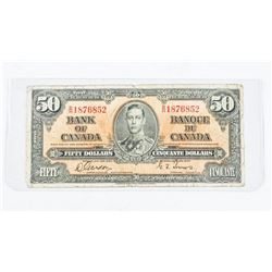 Bank of Canada 1937 50.00 G/T