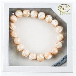 Genuine Mother Pearl Bead Bracelet