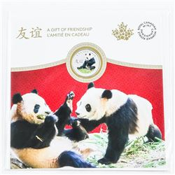2018 .9999 Fine Silver $8.00 Coin Peaceful Panda - Gift of Friendship Coloured Coin Gift Folio