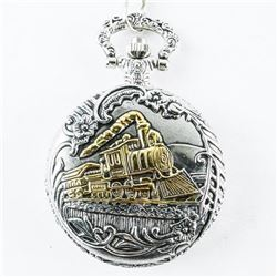 Pocket Watch with Fob Railroad Train Case