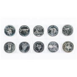 Group of (10) Canada BU Silver Dollars