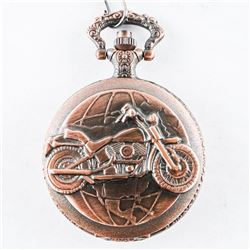 Pocket Watch with Fob Bronze Color 'Harley'