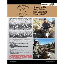 Mule Deer Hunt w/ Antler Mountain Outfitters in New Mexico