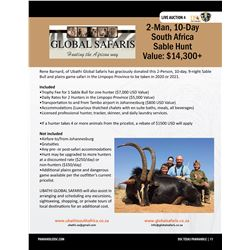 Sable Hunt & Plains Game Safari w/ Ubathi Global Safaris in South Africa Limpopo Province