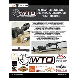 Custom Rifle Package with 2 barrels (300 WSM and 22 Creedmoor) Switchlug from West Texas Ordnance