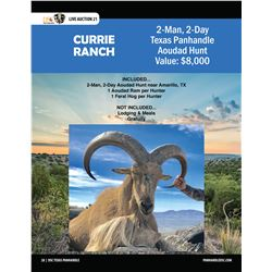 2-Man Aoudad Hunt w/ Currie Ranch Outfitting in the Texas Panhandle