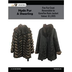 Fox Fur Coat reversible to GoreTex Rain Coat by Hyde Fur & Shearling Co.