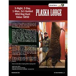 Wild Hog Hunt w/ Plaska Lodge