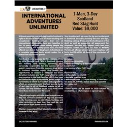 Red Stag Hunt in Scotland w/ International Adventures Unlimited