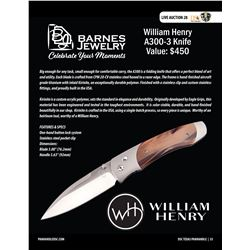 William Henry Knife (A300-3) from Barnes Jewelry