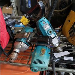 LOT OF 3 MAKITA 1/2 INCH DRILLS