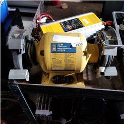 POWER FIST 1/2 HP BENCH GRINDER
