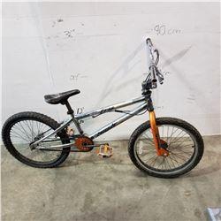 SILVER AND ORANGE AVIGO BMX BIKE
