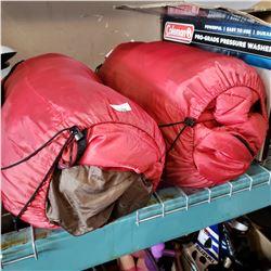 2 RED SLEEPING BAGS