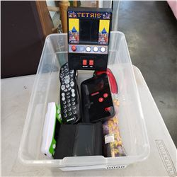 TRAY OF ELECTRONICS ETC GAMES