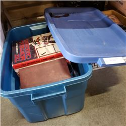 TOTE OF VARIOUS HARDCOVER BOOKS - SOME VINTAGE