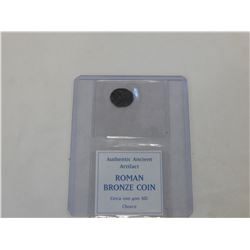 ANCIENT ROMAN BEONZE COIN CIRCA 100-400 AD