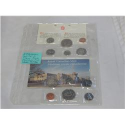 2 CANADIAN COIN SETS IN ORIGINAL CELLOPHANE SEALED PACKAGE