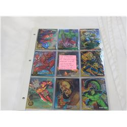 12 PAGES SPIDERMAN/MARVEL CARDS 107 CARDS MANY LIMITED/SPECIAL CARDS