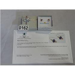 10KT YELLOW GOLD 7x5mm GENUINE 2CT AMETHYST EARRINGS W/ APPRAISAL $995
