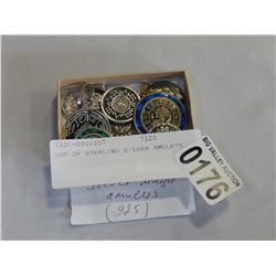 LOT OF STERLING SILVER AMULETS