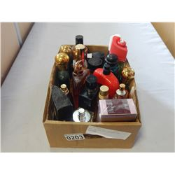 BOX OF VARIOUS COLOGNE AND PERFUME