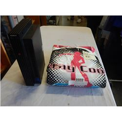 PS2 CONSOLE AND DDR DANCE MAT