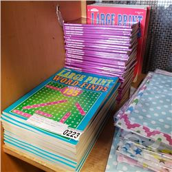25 NEW LARGE PRINT WORD SEARCH BOOKS AND NEW TRAVEL WORD SEARCH BOOKS