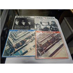 4 BEATLES RECORDS