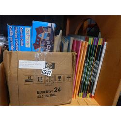 COLOUR IN STABLE COLOUR IN CASTLE W/ COLOURING BOOKS AND 3D HARDCOVER CHILD