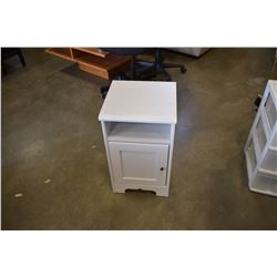 WHITE 1 DOOR END TABLE