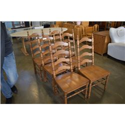 6 VILAS MAPLE DINING CHAIRS