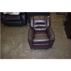 CHILDS LEATHER RECLINER