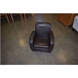 CHILDS LEATHER ARM CHAIR