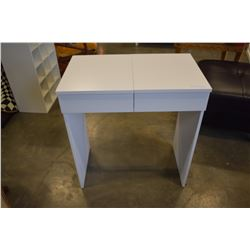 SMALL IKEA BRUMES WHITE VANITY BUILT IN MIRROR AND DRAWER