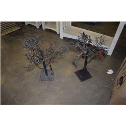 2 BLACK TREE DECORATIONS
