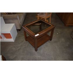 DIEL CRAFT GLASS TOP END TABLE