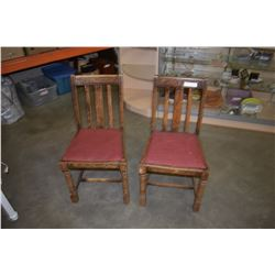 2 VINTAGE WOOD CHAIRS