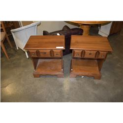 PAIR OF 1 DRAWER VILAS MAPLE NIGHT STANDS