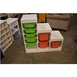 WHITE 3 STEP ORGANIZER W/ BINS