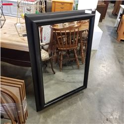 MODERN BLACK BEVELLED MIRROR