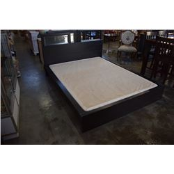 QUEEN SIZE ESPRESSO FINISH BED