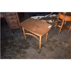 ANTIQUE SIDE TABLE W/ ONE DRAWER