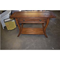 SOLID WOOD SOFA TABLE WITH ONE DRAWER