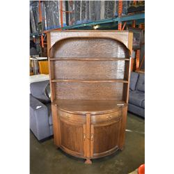 WELCH MADE QUARTER SAWN OAK BOWED FRONT CHINA CABINET